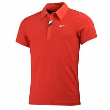 NIke Federer  RF Masters Victory Tennis Polo Red RARE! NEW 383048-600 L