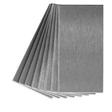 Aspect Peel and Stick Backsplash 3inx6in Brushed Metal Tile (8 pack)
