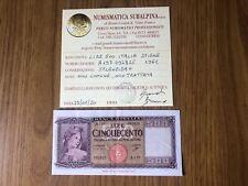 REPUBBLICA ITALIANA BANCONOTA LIRE 500 ITALIA 23 3 1961 NC certificata SPL+