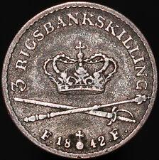 More details for 1842 | denmark christian viii 3 rigsbankskilling | silver | coins | km coins