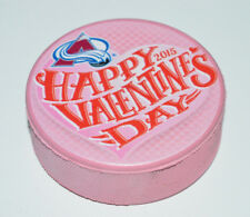 COLORADO AVALANCHE Happy Valentine's Day 2015 Pink Colored PUCK Rare Heart Logo