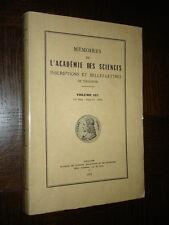 MEMOIRES DE L'ACADEMIE DES SCIENCES DE TOULOUSE - Volume 137 - 1975