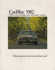 CADILLAC 1982 mercato USA 12pp BROCHURE DI VENDITA SeVille Eldorado Deville Fleetwood