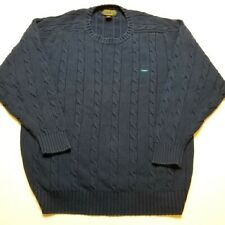 Vtg Alexander Julian Colours Mens Sweater L Cable Knit Heavy Pullover 90s S56
