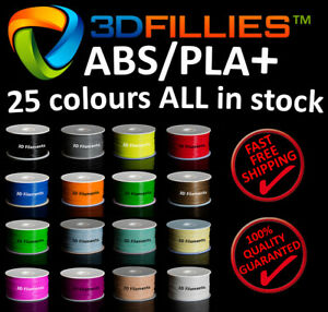 3D Printer Filament ABS PLA+ 1.75mm 1kg/roll 25 colours Aussie Stock Fast Ship