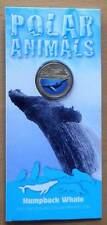 2013 POLAR ANIMALS AUSTRALIAN $1 UNC COLOUR PRINTED COINS - HUMPBACK WHALE