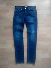 BLK DNM Skinny Jeans 25 Sz 30/32 blau frost blue ripped wie neu 210€