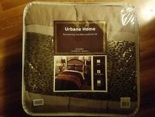 Urbane Home Mini Comforter Set Chocolate/Gold Leopard