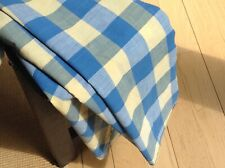New listing Antique French Vichy Blue & Yellow Check fabric Rare! Early 19th C. Shabby Chic