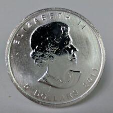 1 Troy oz .9999 Fine Silver Bullion 2011 Canadian Maple Leaf $5 circulated AU015