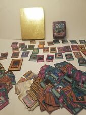 yu gi oh card lot with gold card case and tin(342 cards) $6.99 shipping!