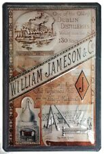 WILLIAM JAMESON DISTILLERY Vintage Metal Pub Sign | 3D Embossed Steel | Home Bar