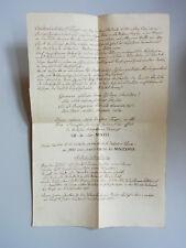 Écriture manuscrite Vienne 1837 Description doré Calice St. Josef à Margareten theyer