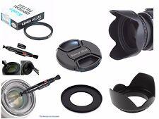 FP17u UV Filter + Lens Hood + Powershot Cap + Ring + LensPen for Canon SX410 IS