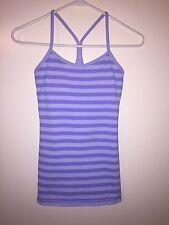 LULULEMON Women's Racerback Athletic Top Purple And Lavender Size 4