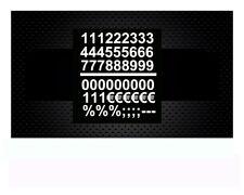 Zahlen und Zeichen, je 3 cm Hoch, Zahlenaufkleber, Sticker,Klebezahlen, Farbwahl