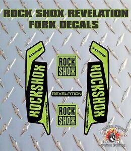 ROCK SHOX Revelation FORK Stickers Decals Mountain Bike Down Hill MTB green