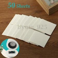 50 Sheets 8x8x0.1cm Microwave Kiln Glass Fusing Paper Ceramic Fiber Square DIY