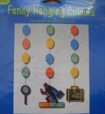 Top Secret Spy Birthday Party Dangling Cutouts - Spy Privite Eye Secret agent