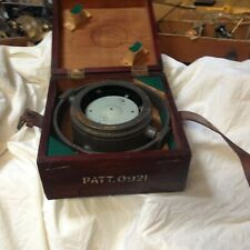 VINTAGE COMPASS RARE  PATT  0921 DOUBLE GLASSED VGC  NIGHT COMPASS --ON GIMBAL