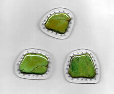 saPine Needle Basket Bottom - 3 Green Slabs Drilled For Coiling - Handcrafted