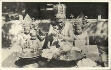 indonesia, BALI, High Priest during Religious Ceremony (1936) RPPC