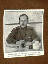 WW1 Prima guerra mondiale Abram Kriylenko nominato Bolsceviki Comandante Russia