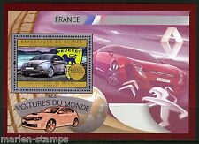GUINEA 2012 FRENCH CARS  OF THE WORLD  SOUVENIR  SHEET  MINT NH