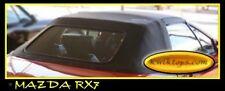 1988-92 MAZDA RX-7 CONVERTIBLE 2 Piece Top BLACK PINPOINT VINYL