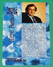 FOOTBALL CARD PREMIUM PANINI 1995 MICHEL PLATINI CARRIERE 1972-1987