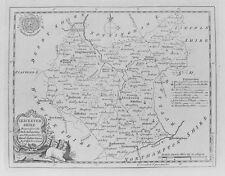 Antiguo Mapa Antiguo Leicestershire c1786 por T Kitchin Siglo Xviii Grabado