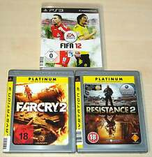 3 PLAYSTATION 3 PS3 SPIELE SAMMLUNG FIFA 12 FAR CRY 2 RESISTANCE 2 EGO SHOOTER
