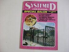 SYSTEME D N°346 NOVEMBRE 1974 SPECIAL SALON DU BRICOLAGE EAU CHAUDE PAR SOLEIL