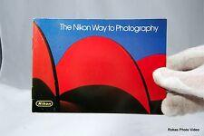 Nikon F3 The Nikon Way to Photography system brochure booklet Guide Genuine (EN)