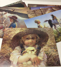 PRECIOUS COUNTRY KIDS GREETING CARDS by Leanin' Tree (10 different) + Envelope