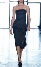 NWT Cushnie Et Ochs 4 Black Side Netting Strapless Dress