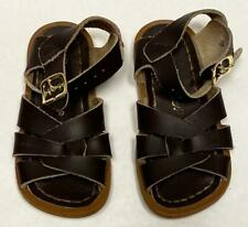 EUC Saltwater Sandals Toddler Girls Size 7 Brown Leather Sandals