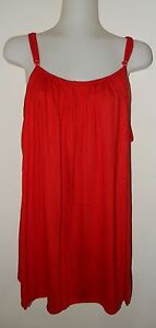 1C732 RED LADIES / WOMEN'S SINGLET STRETCH TOP plus size 16 18 20 22 24 NEW TAGS