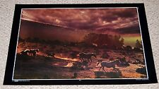 STORM Nature Thoughts #41 Wild Horses Running Photo Poster 1971 Thought Factory