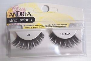 Andrea's Strip Lashes Fashion Eye Lash Style 28 Black - (Pack of 6)