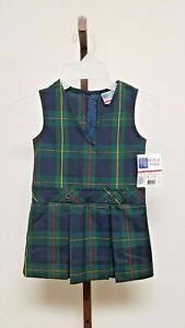 VTG W/ TAGS Royal Park Tartan Plaid Girls Jumper Dress  Size 3T ST. PATRICK'S