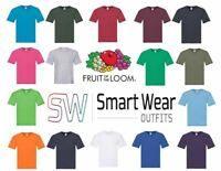 Fruit Of The Loom 100% Cotton Mens  V-Neck T-Shirt  5 Pack 61426