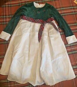 American Girl GIRLS SIZE 6x Bitty Baby Evergreen Holiday Christmas dress EUC