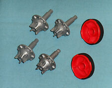 vintage Mego Micronauts ANDROMEDA PARTS LOT #44 both small wheels and 4 hubcaps