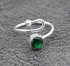 Charm Hydro Quartz Silver Plated Adjustable Gemstone Fashion Ring Girls Jewelry