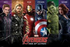 (LAMINATED) AVENGERS AGE OF ULTRON MOVIE POSTER (61x91cm)  PICTURE PRINT NEW ART