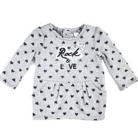 Petit Lem Baby Girl Size 3 Months Grey Black Sweatshirt Pull Over Pockets Hearts
