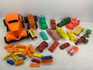 Huge Lot of Plastic Cars Reliable Lido  Durant Auburn F & F Toy Train + 18