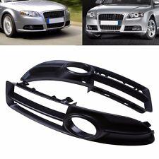 Front Grills Bumper Fog Lights Cover Lamp Frame Trim For Audi A4 B7 2005-2009