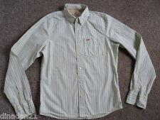 Hollister men's shirt, size L, long sleeve,light green  striped